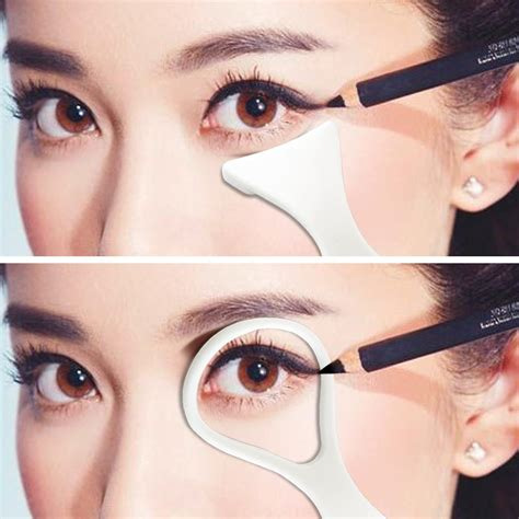 eyeshadow template 1pack cat eyeliner stencils makeup stencil eyeline models eyeliner card auxiliary tools makeup