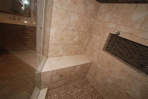 6 Foot Tub in Window Alcove & Glass Tile Inlaid Floors
