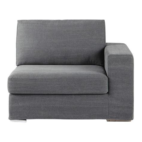 accoudoir de canapé accoudoir droit de canapé en coton gris anvers maisons