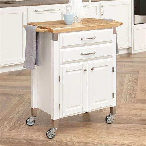 home styles white scandinavian kitchen carts  lowescom