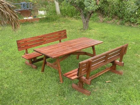 panchine in legno da esterno tavolo da giardino in legno con panchine separate e