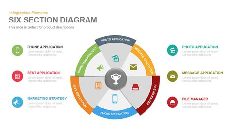 section diagram powerpoint template  keynote