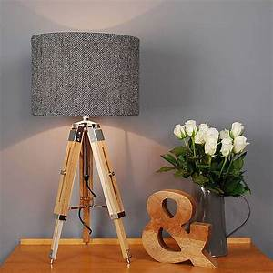 harris tweed herringbone tripod table lamp international With table lamp not on the high street