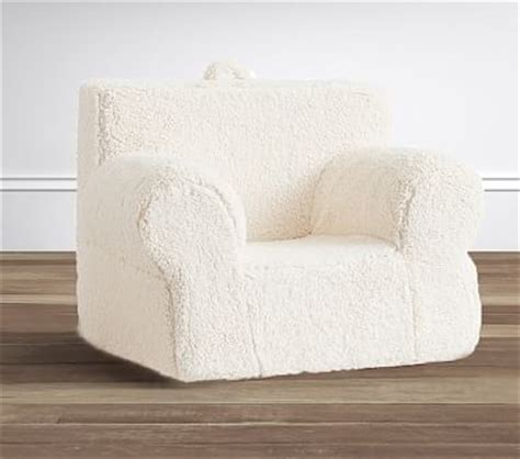 cream sherpa oversized anywhere chair 174 pottery barn kids