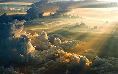 Clouds Sky Above Desktop Wallpapers Resolution Baltana