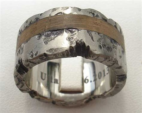 wooden inlay titanium ring love2have in the uk