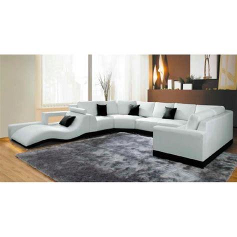 canap panoramique cuir center canapé panoramique cuir blanc avec méridienne achat