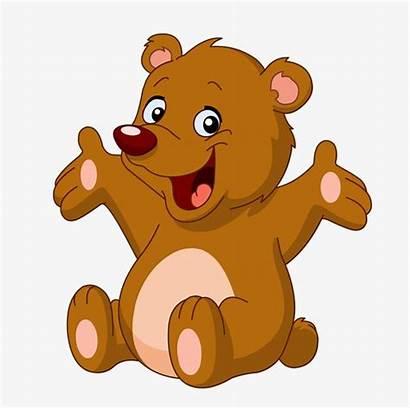 Bear Clipart Happy Animal Animals Cartoon Brown