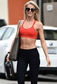 Julianne Hough Grins and Bares — Her Abs! — After a ...
