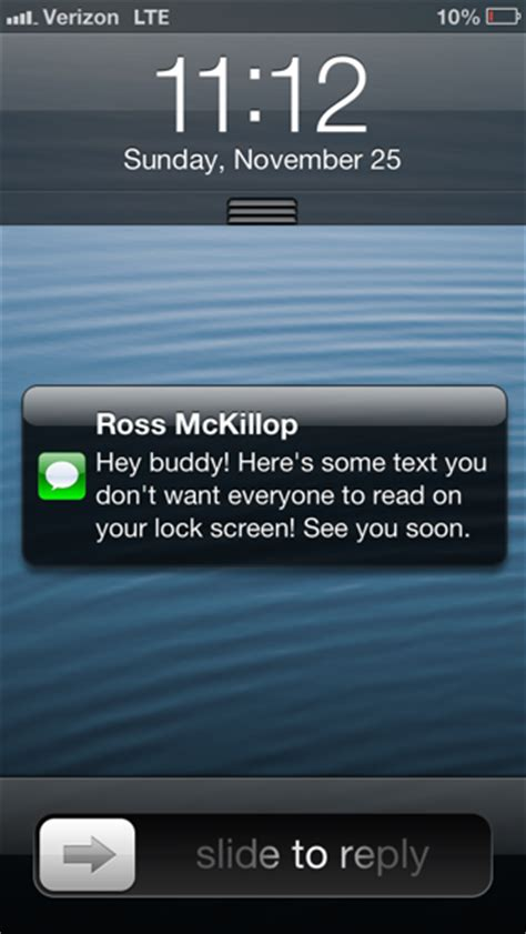how to lock messages on iphone how to stop text messages from displaying on your iphone
