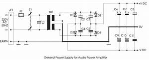 Simple 50w Electronic Amplifier Circuit Diagram