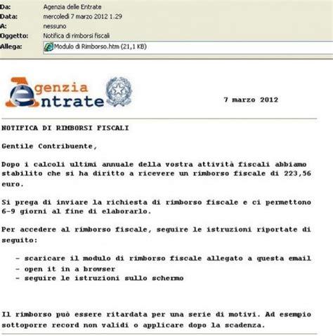 Ufficio Entrate Calcolo Bollo by Rimborsi Truffa Dell Agenzia Delle Entrate