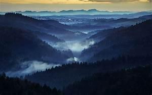 Nature, Landscape, Mist, Forest, Mountain, Sunrise, Valley