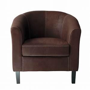 Fauteuil Club Cuir Maison Du Monde : fauteuil en microsu de marron fauteuils maison du monde et le monde ~ Melissatoandfro.com Idées de Décoration