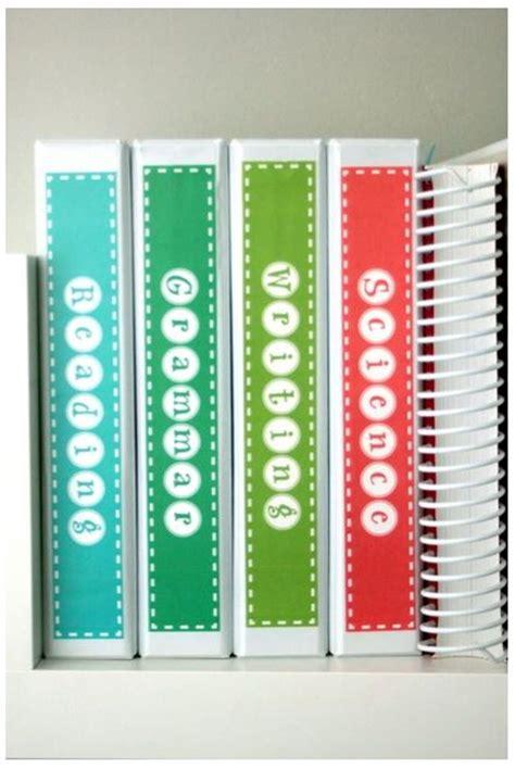 subject binder spine labels  printable binder