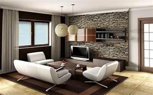 Braunes Sofa Weiße Möbel : wohnzimmer renovieren 100 unikale ideen ~ Sanjose-hotels-ca.com Haus und Dekorationen
