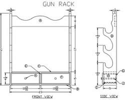 rifle cleaning rack woodworking plans  information