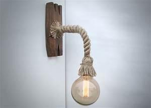 Une Corde De Bois : lumi re murale fabriqu e partir d 39 une corde et d 39 un bois ~ Melissatoandfro.com Idées de Décoration