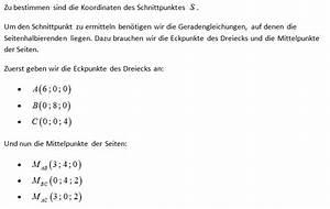 Geraden Schnittpunkt Berechnen : analytische geometrie seitenhalbierende im dreieck ~ Themetempest.com Abrechnung