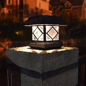 Solar Led Lights Australia Solar Power Post Cap Fence Light Led Outdoor Garden