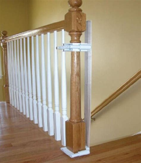 banister safety gate kidco k12 stairway newel post banister gate mounting kit