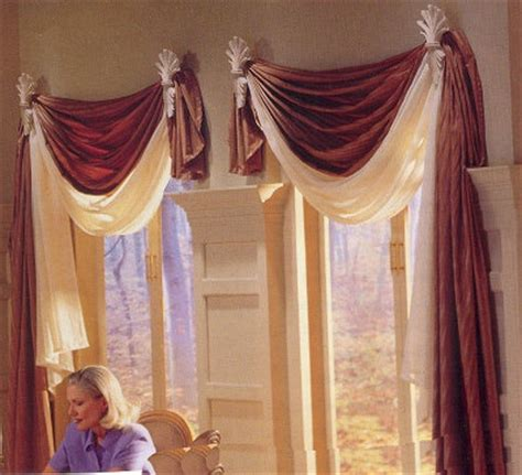 Window Sconces Curtain Drapery Sconces self swag draperies with decorative sconces home ideas