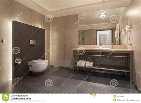 Waldhotel  Modernes Badezimmer Stockbild  Bild Von