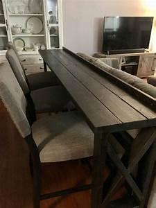 sofa back bar table diy sofa table home diy home decor