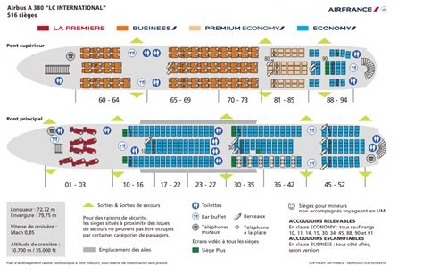 plan siege a380 air air re configuration des a380 en vue air info