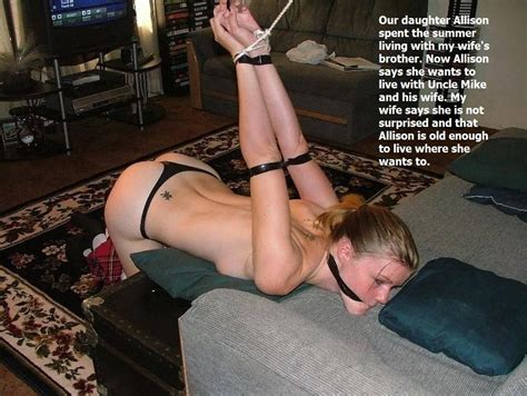 submissive bondage captions