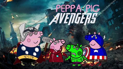 peppa pig english episodes marvel avengers disguise