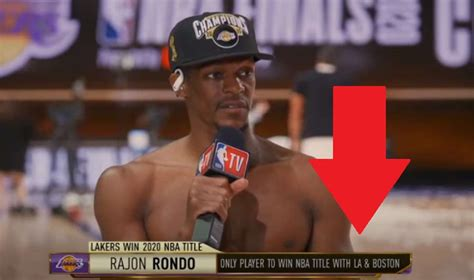 Shirtless Rajon Rondo Becomes First Player in NBA History ...
