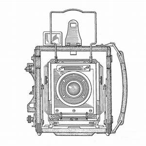 Vintage Press Camera Patent Drawing Drawing By Edward Fielding