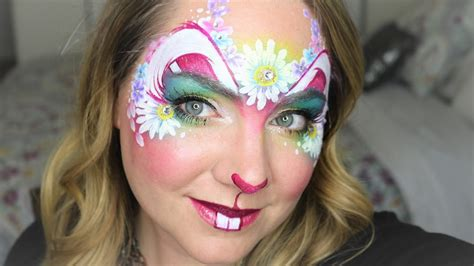 spring flower bunny face painting  makeup youtube