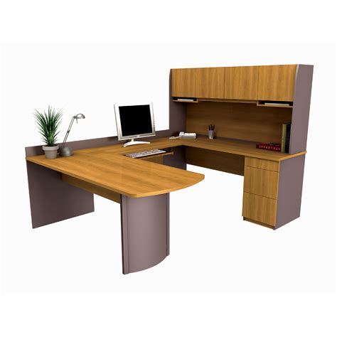 u shaped computer desk bestar 52412 6 executive u shaped computer workstation