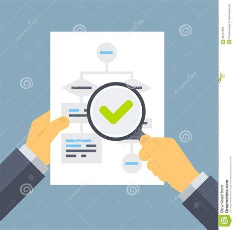 analyzing flowchart flat illustration stock photo image