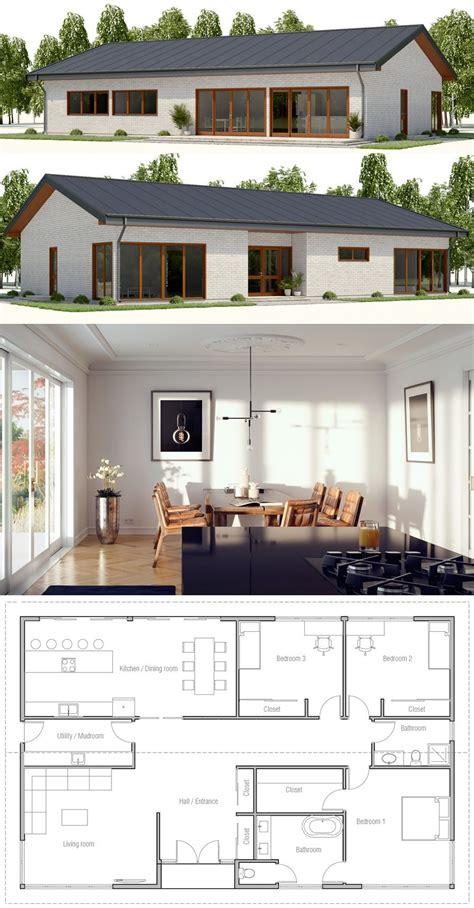 Kleines Einfamilienhaus Grundriss by Kleines Haus Hausplan Grundriss Home In 2019