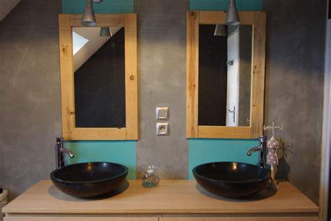 creer un bar dans une cuisine miroir salle de bain bois