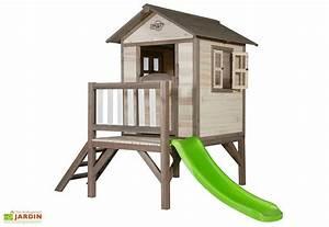 Maison De Jardin En Bois Enfant : maison pour enfant bois lodge xl sunny ~ Dode.kayakingforconservation.com Idées de Décoration