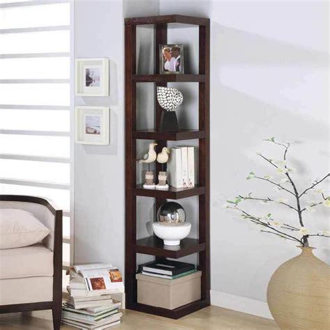 Contemporary Corner Bookcase contemporary corner display 5 shelves rack bookshelf