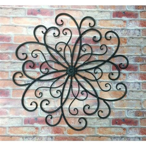 outdoor wall decor wall scroll metal wall hanging bohemian decor faux wrought iron apple home