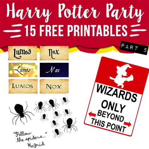 harry potter party printables part lovely planner
