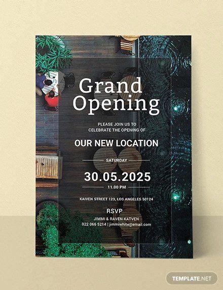 grand opening invitation template   grand