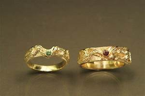 Hand crafted dragon phoenix carved rings by frank goss for Wedding rings phoenix az
