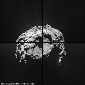 Rosetta probe takes stunning close up images of the comet ...