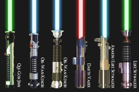 all lightsaber colors wars what are all the known lightsaber designs