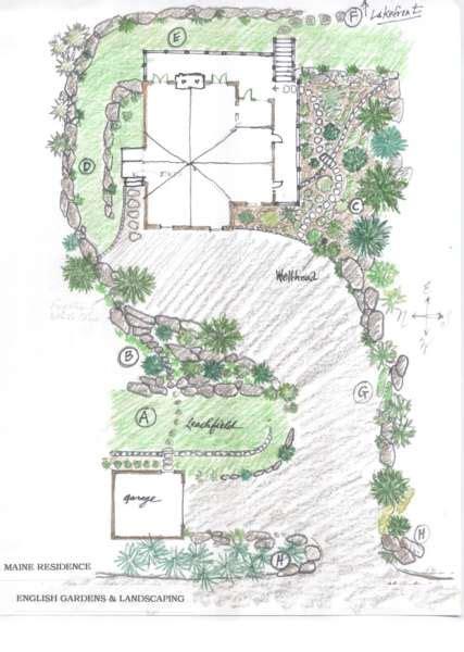 Englischer Garten Plan by Maine Garden Gardens Landscaping