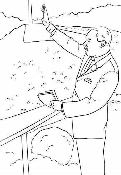 Luther Martin King Coloring Jr Printable Pages