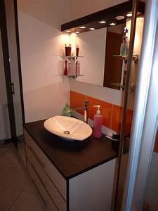 meuble de salle de bains avec grands tiroirs a ralentisseurs With porte meuble salle de bain sur mesure