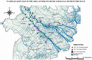 Water Quality Map Of The Areas Along The Mekong And Bassac River